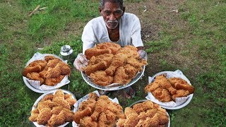 Download KFC Style Fried Chicken | Crispy Spicy Fried Chicken Cooking by our grandpa for Orphan kids Video