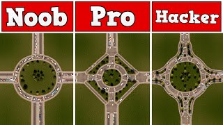Download Noob VS Pro VS Hacker - Building a roundabout in Cities: Skylines Video