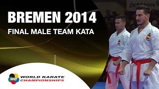 Download Final Male Team Kata SPAIN. 2014 World Karate Championships Video