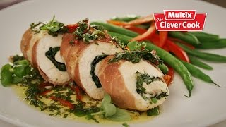 Download Chicken spinach and prosciutto involtini Video