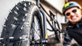 Download DEADLY STUDDED TIRES ON MY BMX BIKE! Video
