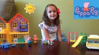 Download Peppa Pig and Lost Puppy Story Time with Peppa Pig House Toy Set, Ariel Castle, Frozen Anna and Elsa Video