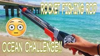 Download Rocket Fishing Rod Catches Fish In Ocean Challenge!?! Video
