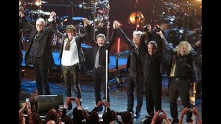 Download Bon Jovi being inducted to the Rock N' Roll Hall Of Fame Video