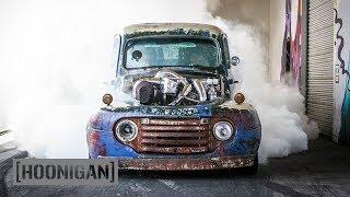Download [HOONIGAN] DT 075: 1200HP Twin Turbo Diesel Burnouts (Old Smokey F1) Video