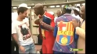 Download Lionel Messi en visite au Gabon aux côtés d'Ali Bongo Video