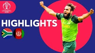 Download Imran Tahir Takes 4! | South Africa vs Afghanistan - Match Highlights | ICC Cricket World Cup 2019 Video