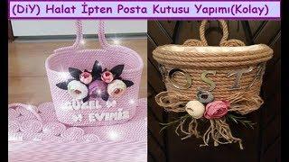 Download diy | Halat ipten Kapı Süsü Posta Kutusu Yapımı,Crafts,Art |How To Make Wicker Rope home Decorations Video