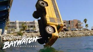 Download SCHOOL BUS Crashes OFF A Bridge! Baywatch Remaster Video