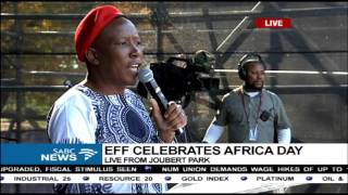 Download EFF leader delivers his keynote address - Africa Day Video