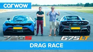 Download McLaren 720S v 675LT DRAG RACE, ROLLING RACE & BRAKE TEST | Mat vs Shmee pt 1/4 Video