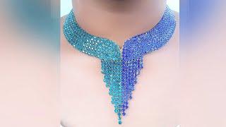 Download How To Make Designer Necklace At Home | DIY | Hand Made Bridal Necklace | Chokar | Uppunuti Home Video