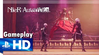 Download NieR: Automata (2017) Boss Battle Gameplay - PS4 [1080p/60fps] Video