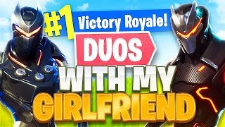Download Fortnite Duos w/ My Girlfriend!! *NEW* Submachine Gun Gameplay! (Fortnite Battle Royale) Video