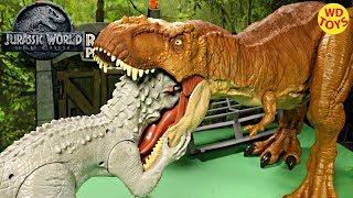 Download New Jurassic World Super Colossal Tyrannosaurus Rex Unboxing T-Rex Fallen Kingdom Mattel Vs Hasbro Video