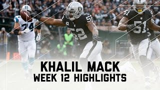 Download Khalil Mack's Historic Game! | Panthers vs. Raiders | NFL Week 12 Player Highlights Video