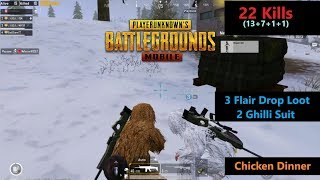 Download [Hindi] PUBG Mobile   ″22 Kills″ With Squad 3 Flair Drop 2 Ghilli Suit Chicken Dinner Video