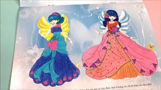 Download Đồ chơi bé gái dán hình và tô màu đầm công chúa lấp lánh cùng chị Chim Xinh - Toys for Kids Video