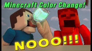 Download Minecraft Color Changing Potion Drink War Zombie Steve vs Puppet Steve Video