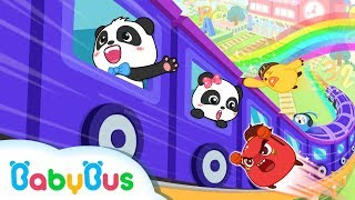 Download Baby Panda Takes Flying Train | Math Kingdom Adventure 5-8 | BabyBus Video