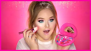Download FULL FACE USING ONLY KIDS MAKEUP Challenge | NikkieTutorials Video