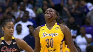 Download Candace Parker Recounts the Parker-Ogwumike Head Bump Video
