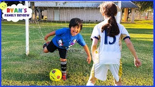 Download Ryan's First Soccer Practice vs the big kids!!! Video