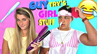 Download Guys Try Girl Products Video