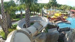 Download Hyatt Regency Grand Cypress Orlando - Beautiful Pool, Detailed POV Tour w/ Slide, Caves, Waterfalls Video