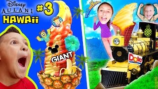 Download HAWAII ICE CREAM TOWER! Pineapple Everything @ Dole Plantation (FUNnel Vision Disney Aulani Part 3) Video