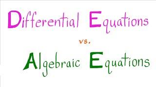 Download Solving Differential Equations vs. Solving Algebraic Equations Video