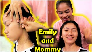 Download Relaxing Shampoo Head Massage by Mother - Happy Valentine's Day Video