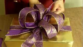 Download How to make the Ultimate BOW for your Christmas Gift or Present Video