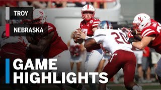 Download Highlights: Troy at Nebraska | Big Ten Football Video