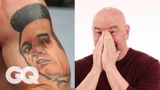 Download Dana White Tries to Guess UFC Fighter's Tattoos | Tattoo Tour | GQ Video