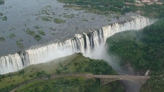 Download Victoria Falls (Helicopter Aerial View) - Zambia / Zimbabwe Africa Video