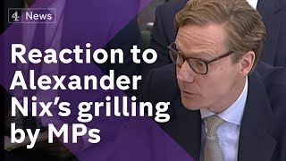 Download Reaction as former Cambridge Analytica CEO is grilled by MPs Video