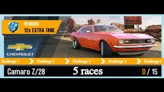 Download Asphalt 8 - 5 first car mastery races with Camaro Z28 Video