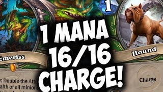 Download EMERISS COMBO HUNTER = 1 Mana 16/16! | THE WITCHWOOD | HEARTHSTONE | DISGUISED TOAST Video
