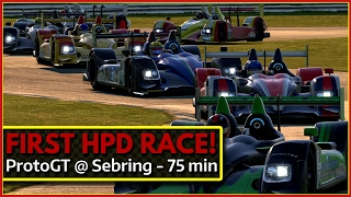 Download My first HPD race ProtoGT @ Sebring iRacing Video
