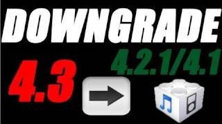 Download Downgrade iOS 5.0.1/5.0/4.3.5/4.3.4/4.3.2/4.3.1 To 4.2.1/4.1 Firmware On iPhone iPod Touch & iPad Video