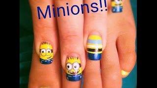 Download Minions Nail Art Facil de hacer by Lizy Video