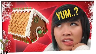 Download GingerBread House Eating Challenge Video