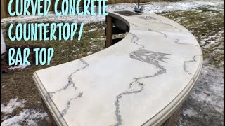 Download Curved Concrete Countertop / Bar Top Video