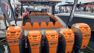 Download Monster Boats at the Boat Show 2018 FLIBS (4 and 5 engines only ) Video
