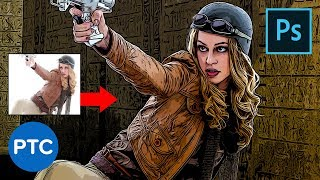 Download Smart Way to Quickly Make COMIC BOOK DRAWINGS From Your Photos! Photoshop Tutorial Video
