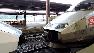 Download Coupling and departing of 2 TGV trains! Video