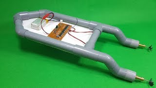 Download How To Make RC Boat Twin 180 Motor Using PVC Pipe Video