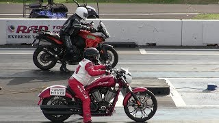 Download KTM motorcycles vs Harley Davidson motorcycles-drag racing Video