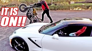 Download A**HOLE Biker Stunts Around My Car... Taught Him a Lesson! Video